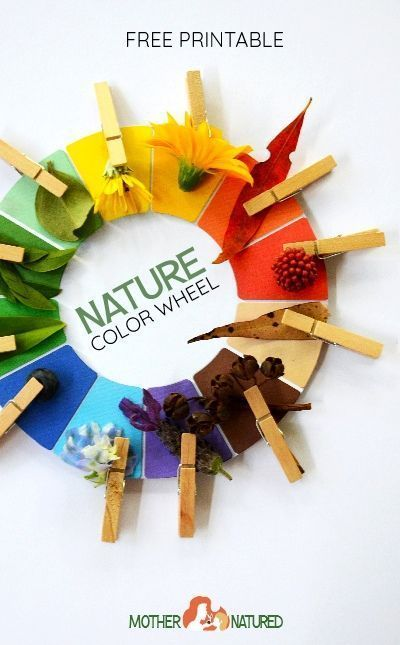Totally Awesome FREE Nature Color Wheel Printable - Mother Natured