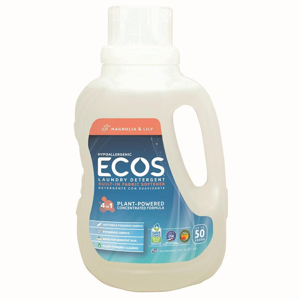 Ecos 50 Oz Magnolia And Lily Scented Liquid Laundry Detergent