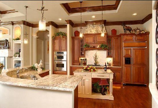 would love a huge kitchen! Dream Home Pinterest Huge kitchen