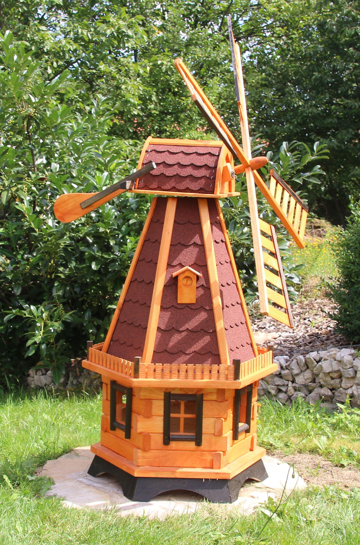 Hollandische Windmuhle Mit Led Beleuchtung Typ 23 1 Windmuhle Gartenwindmuhle Solarbeleuchtung