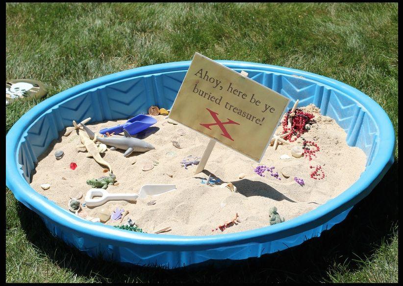 Image result for sand buried treasure kiddie pool Kiddie