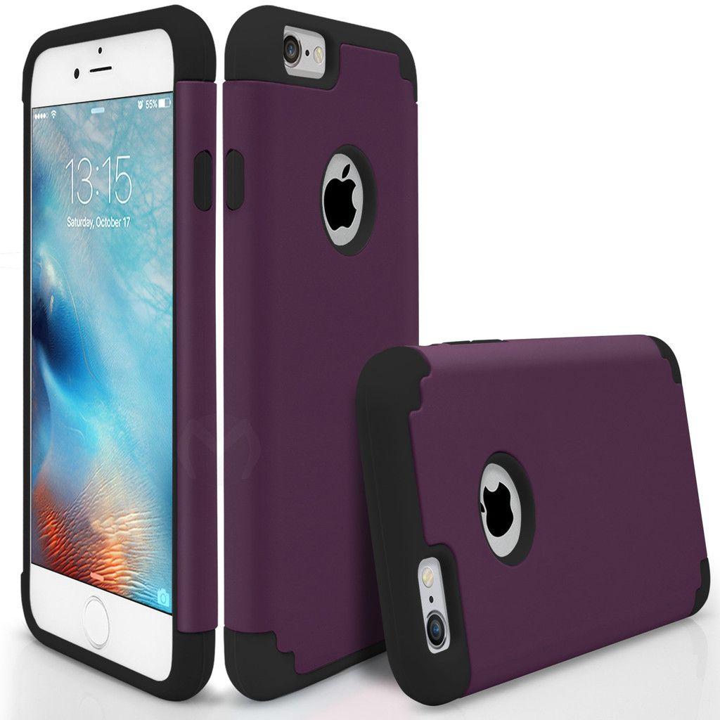 Iphone 6s Plus Case Hybrid Thin Armor Protective Purple Black Iphone 6s Apple Case Iphone Cases Iphone 6s Case