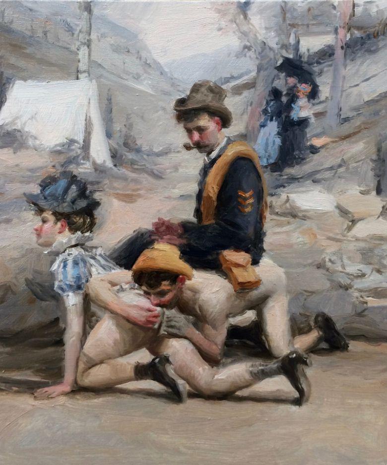 #Cuba: 'La tregua fecunda', según Ariel Cabrera Montejo  Lo que no se atrevieron a pintar a inicios de la República.