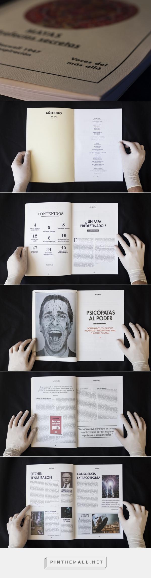 Rediseño Año Cero (Parte I: Revista) | Domestika - created via http://pinthemall.net