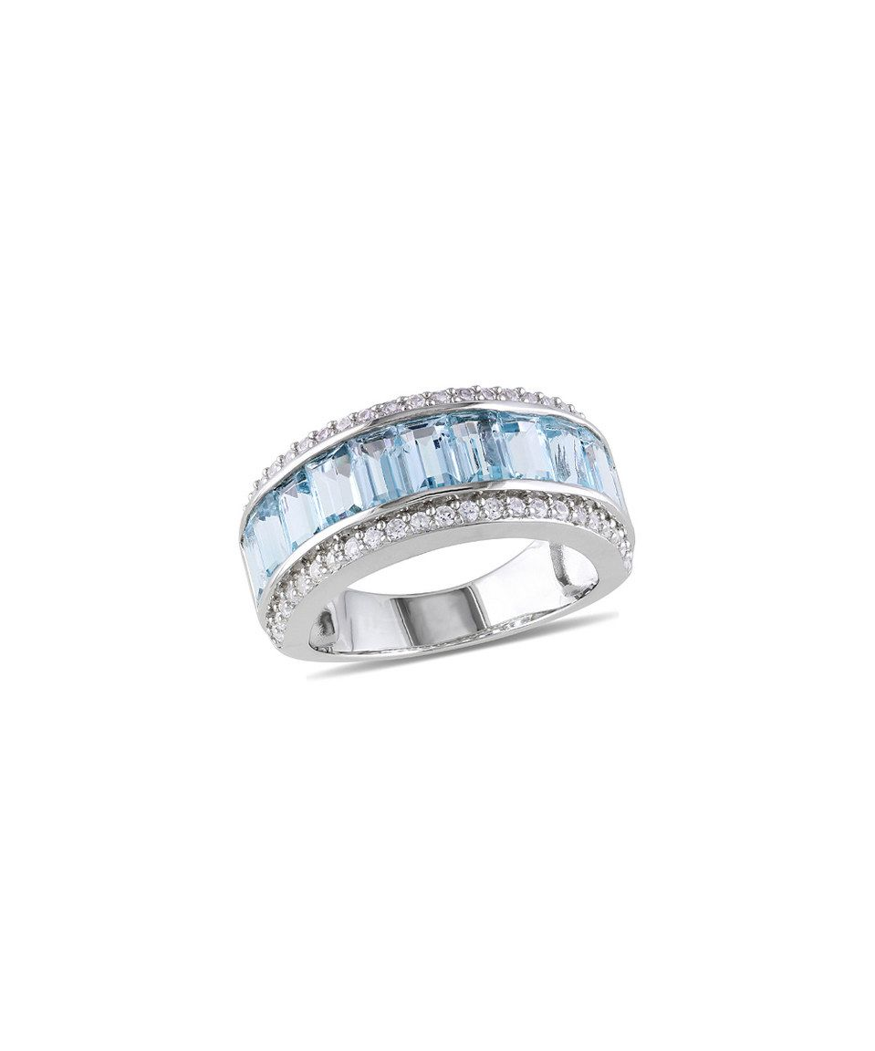 Look what I found on #zulily! Sky Blue Topaz & White Sapphire Baguette Ring by Delmar #zulilyfinds