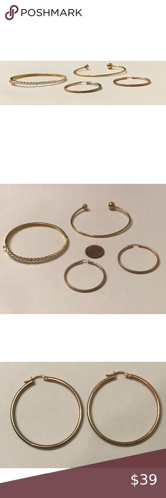 Does Gold Vermeil Tarnish : vermeil, tarnish, Sterling, Vermeil, Earring, Bracelets, Earrings,, Vermeil,, Hinged, Bangle