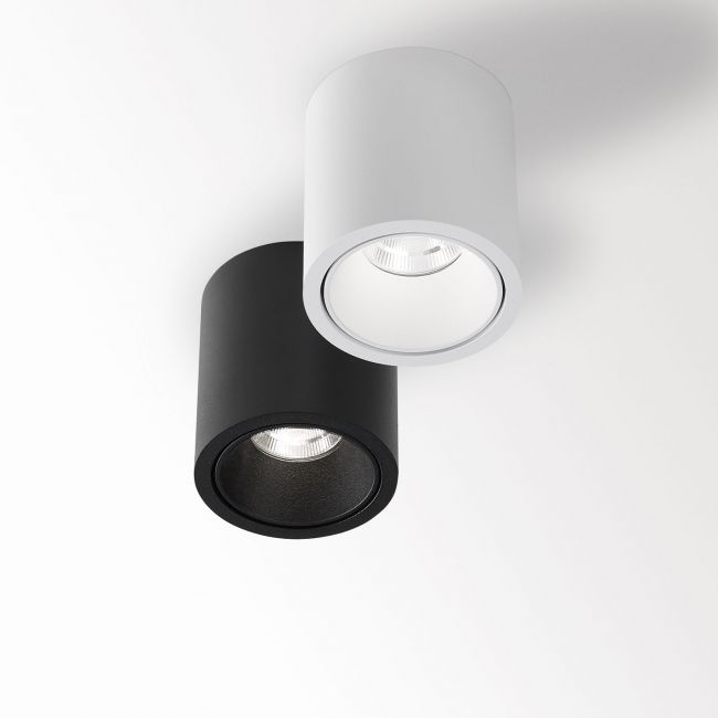 Boxy Round Interior And Exterior Ceiling Surface Mounted Spot By Deltalight Ceiling Light Design Delta Light Surface Mount Lighting