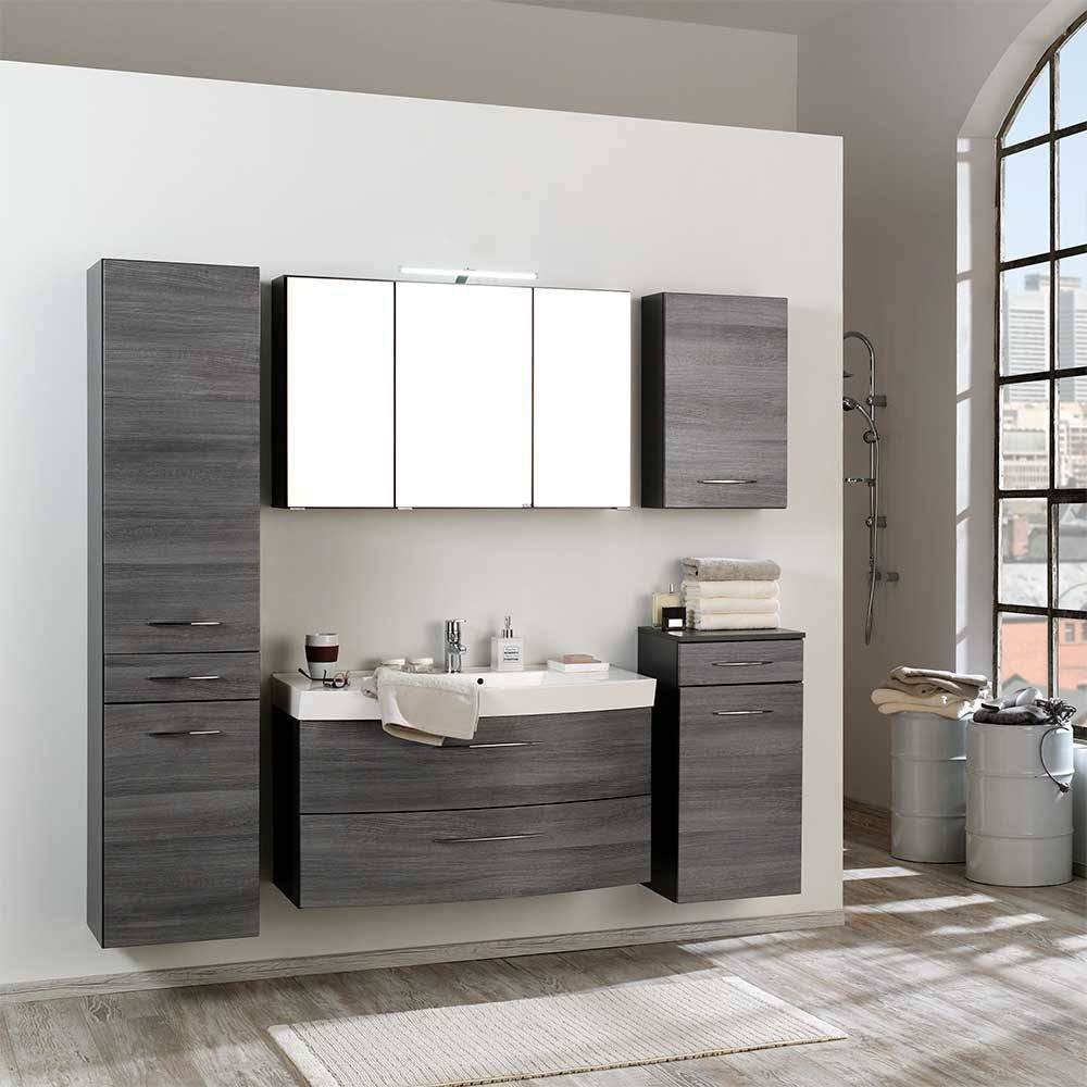 Badezimmer Komplettset Darina In Eiche Grau Wohnen De Badezimmer Grau Eiche Modern Mit Komplett Set Braun Darina Komplettset B In 2020 Bathroom Vanity Vanity Arlee