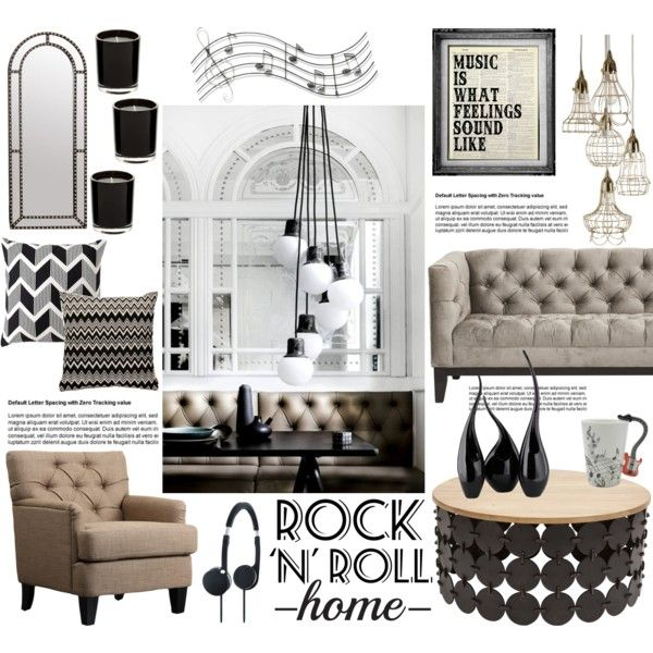 Rock N Roll Home By Helenevlacho On Polyvore Featuring Interior Interiors Design Decor Decorating Tradition