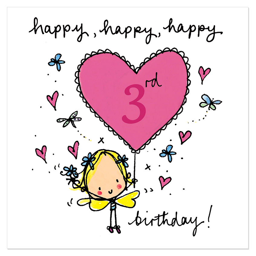 Happy 3rd Birthday Cards Wishes Sayings Greetings And Smiles
