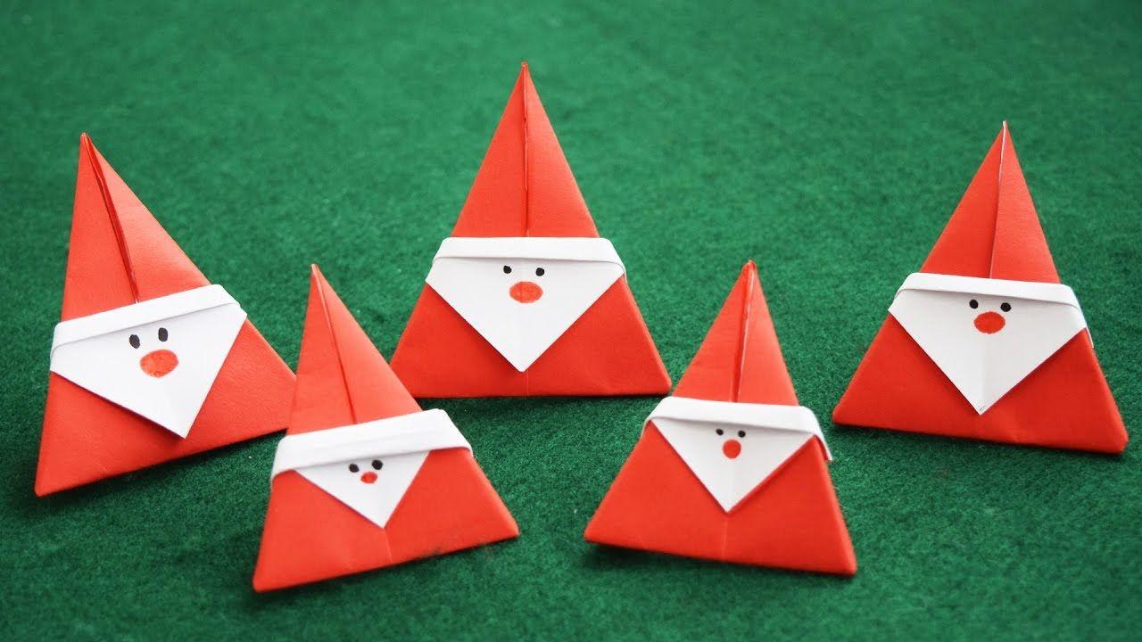 Картинки, открытки дед мороз оригами