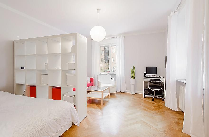 Studio apartment oooh a white divider am or can use in - Divider ideas for studio apartments ...