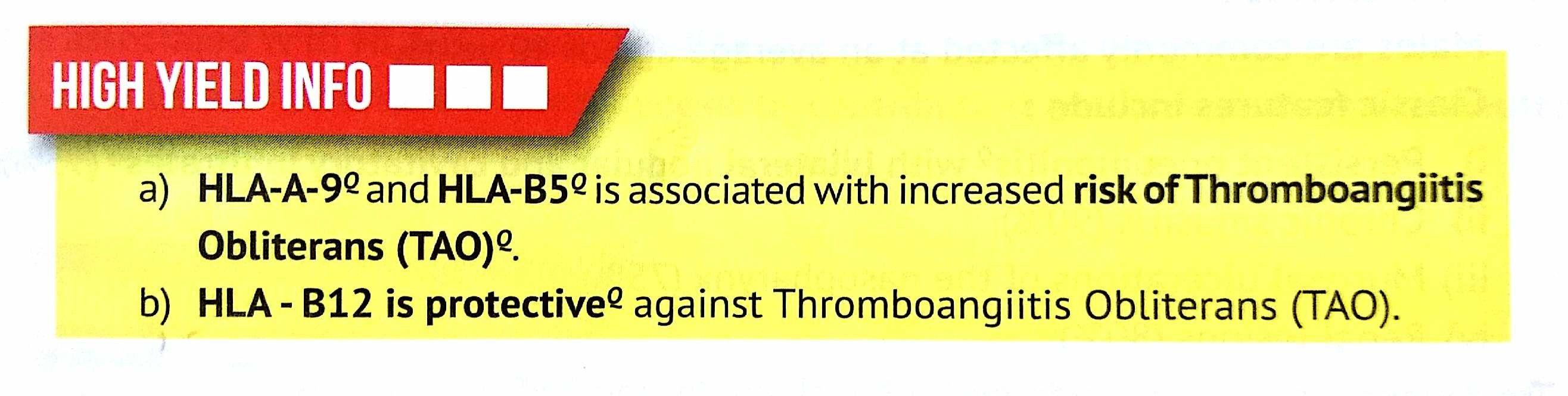 Hla And Risk Protection To Thrombangitis Obliterans Tao B12 Protective Like Vit B12 B12 Vit B12 Pathology