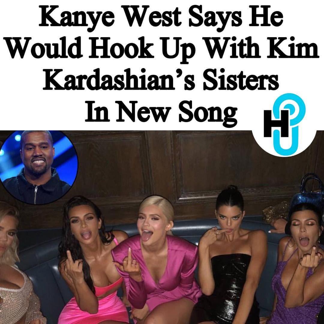 Hollywoodunlockedhu Staff Alyssa Brook Alyssabrookhu Kanye West Released A New Track Title Xtcy Late Friday Night Kim Kardashian Sisters Kanye West Kanye