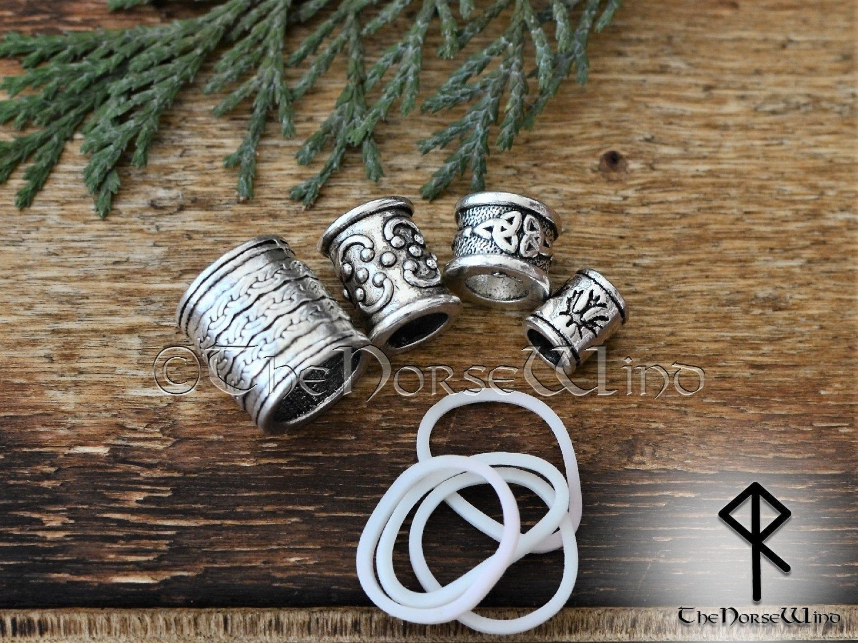 Dread beads set 3 pcs viking celtic bead big hole dreadlock beads loc jewelry