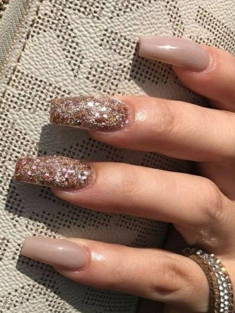 33 Gorgeous Fall Square Nail Polish To Copy Square Acrylic Nails Glitter Nail Art Trendy Nails