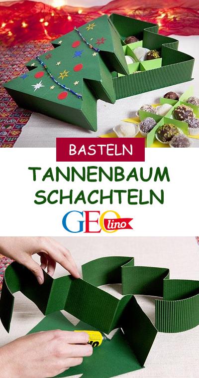 Bastelanleitung Tannenbaum Pralinenschachtel Basteln Mit Kindern