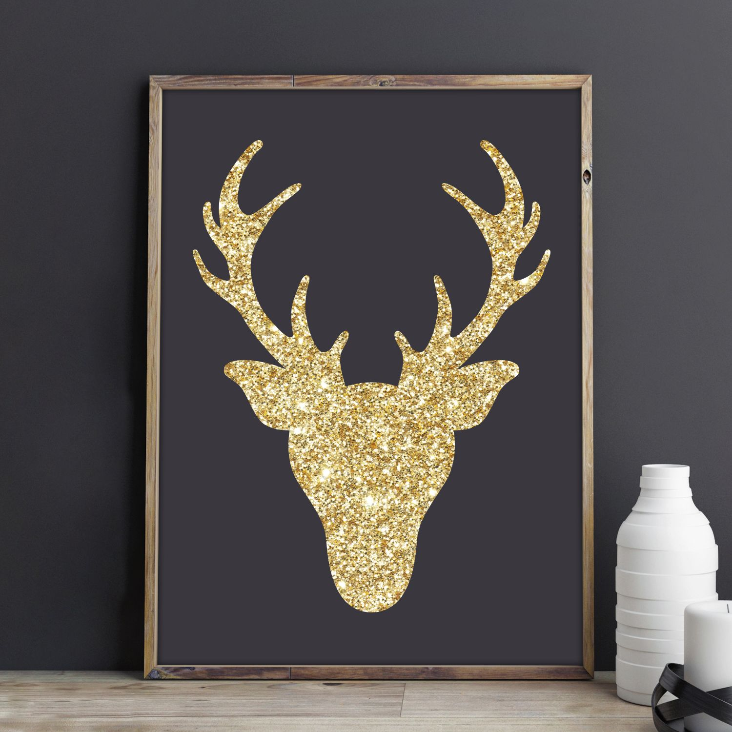 Create You Own Glitter Deer Artwork Using The Deer Head Die From AccuCut  Craft.