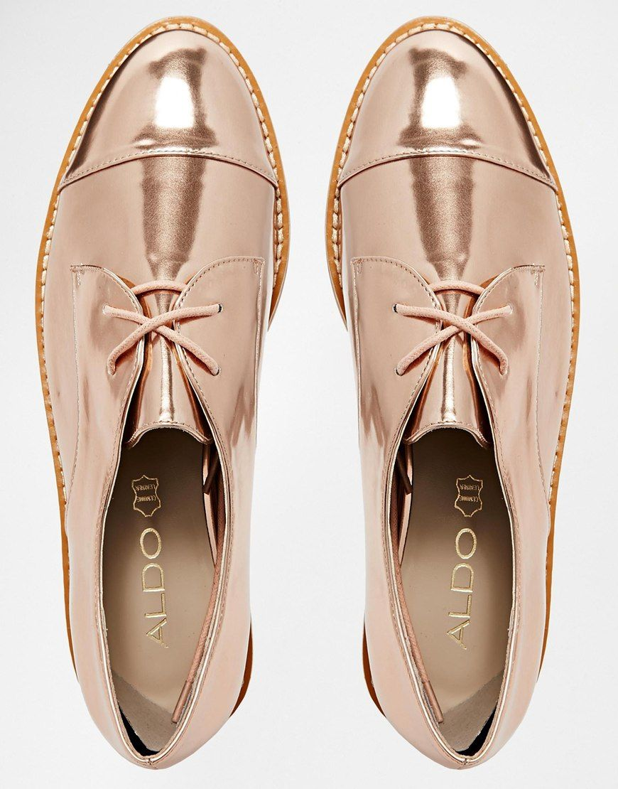 92cbb98bf4c8 Aldo Quirta Rose Gold Flatform Shoes ...