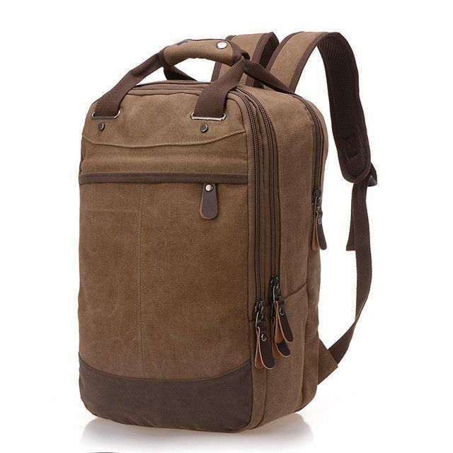 Factory direct foreign trade trend of casual canvas bag man bag computer  backpack student leisure shoulder bags fd11dffb4f