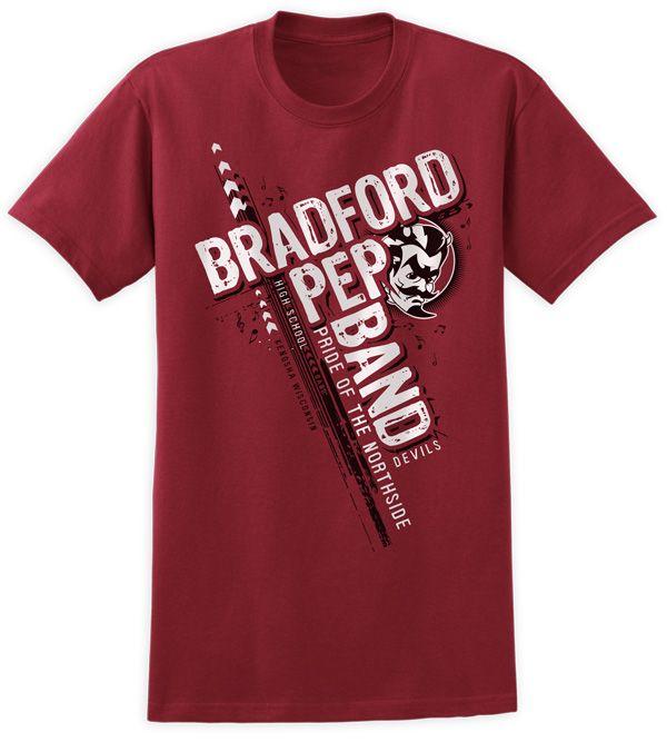 Bradford high school pep band shirt design t shirts by for High school band shirts