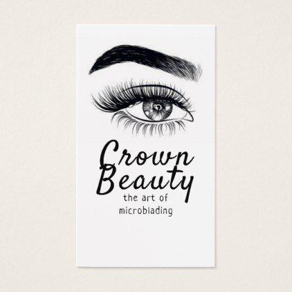 Modern microblading eyebrows permanent makeup business card modern microblading eyebrows permanent makeup business card reheart Image collections
