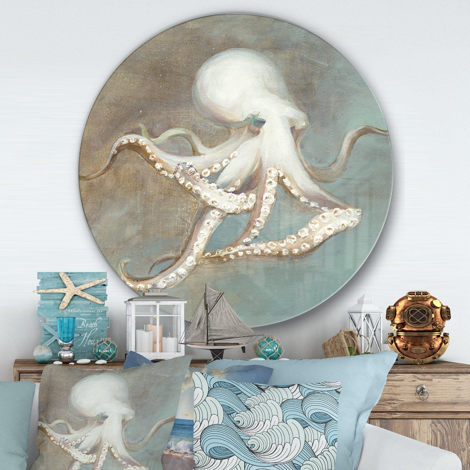 Designart Octopus Treasures From The Sea Nautical Coastal