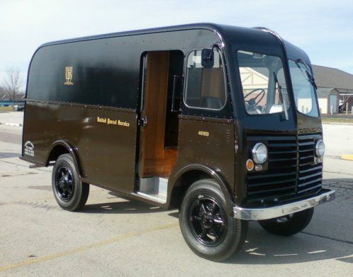Old Ups Chevy Panel Delivery Truck Classic Chevy Trucks Cool