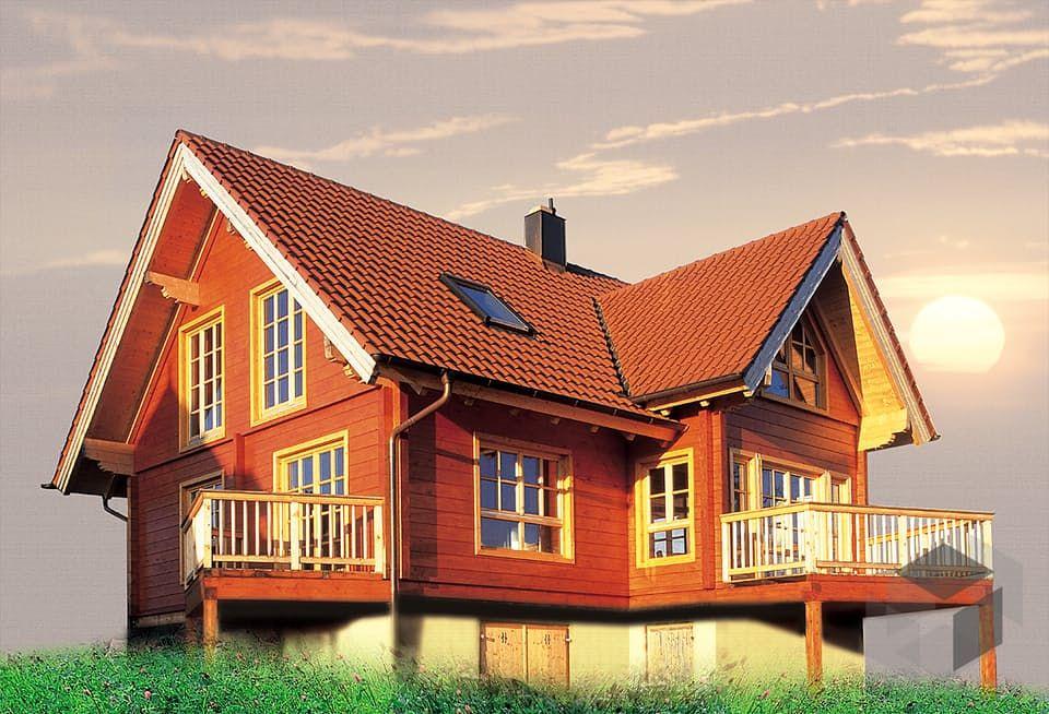 Soest von RemsMurrHolzhaus Blockhaus Satteldach