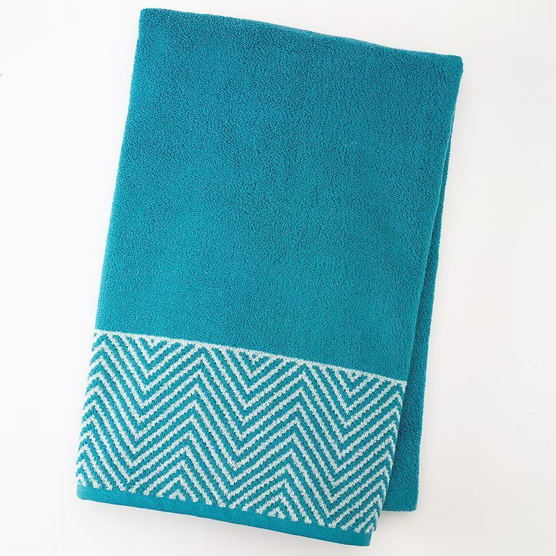 Apt. 9® Highly Absorbent Chevron Bath Towel, Turquoise/Blue (Turq/Aqua)