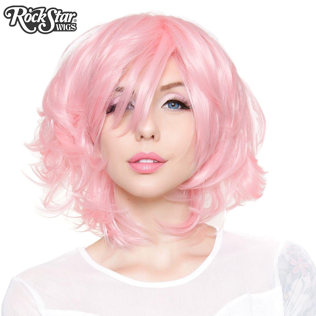 Boy hairstyle wigs cosplay wigs usa boy cut short shag  light powder pink
