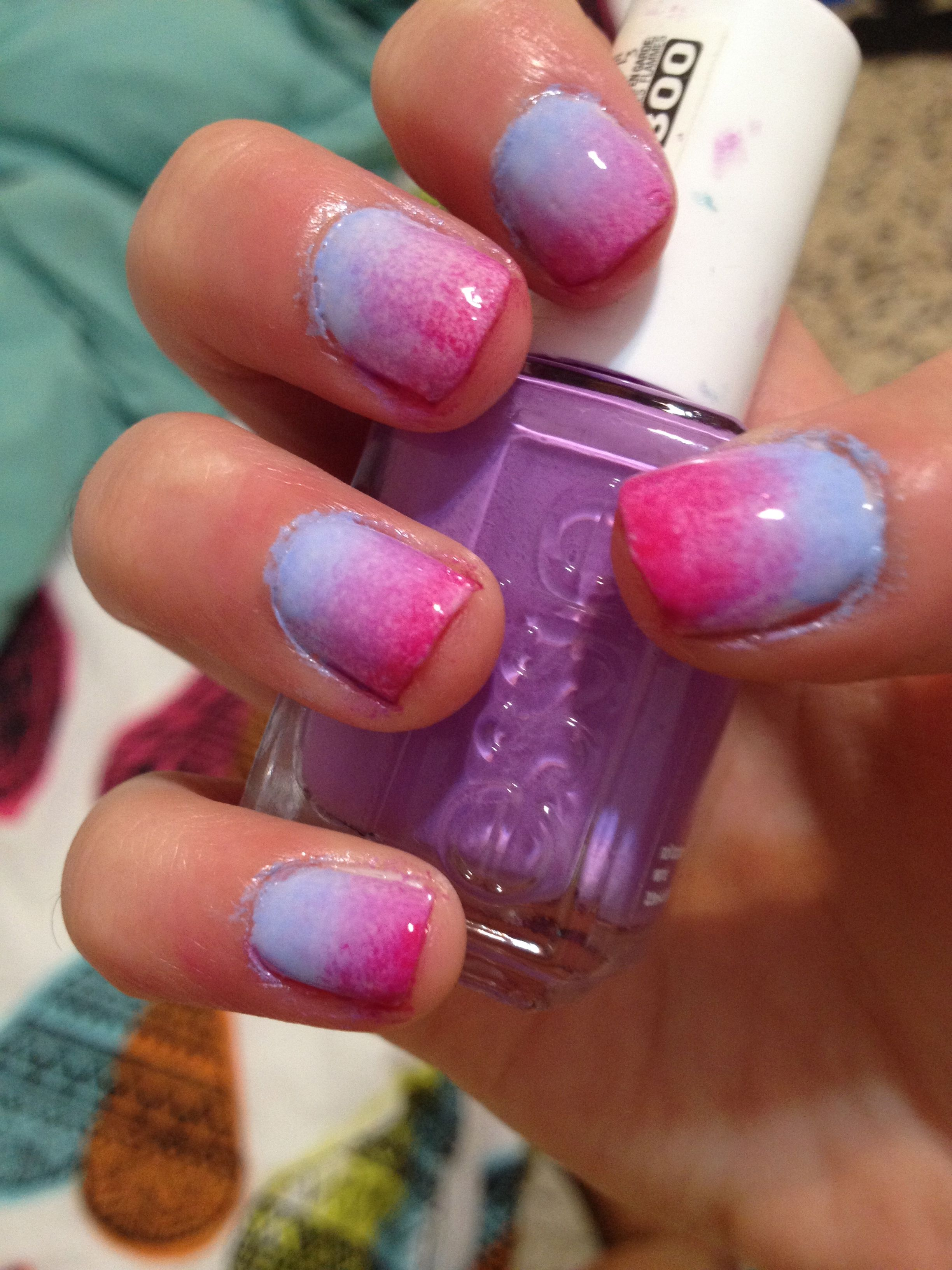 Ombre Nails Cute And Easy Use A Sponge 2 3 Colors