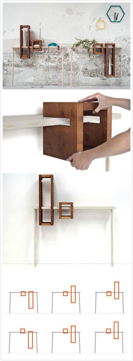 Adjustable box shelf--would be way cool with some floating shelves.