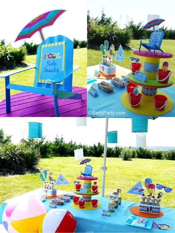 Pool Party Ideas Kids 25 best ideas about kid pool parties on pinterest kids beach party swim party favors and pool party birthday Pool Party Ideas Kids Summer Printables