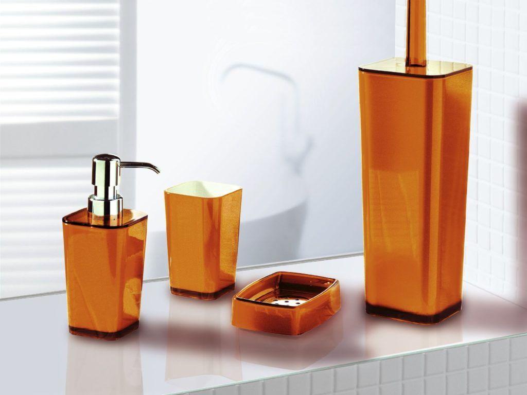 Burnt Orange Bathroom Accessories Orange Bathroom Accessories Orange Bathrooms Bathroom Accessories Design