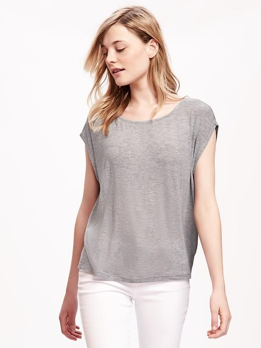 Sandwashed Cocoon Tee for Women