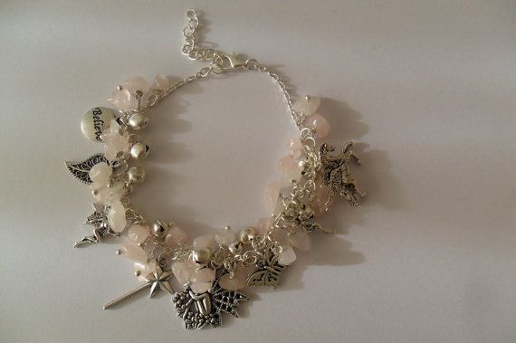 Rose Quartz Fairy Fantasy Loaded Charm Bracelet by Hopkins & the Witch