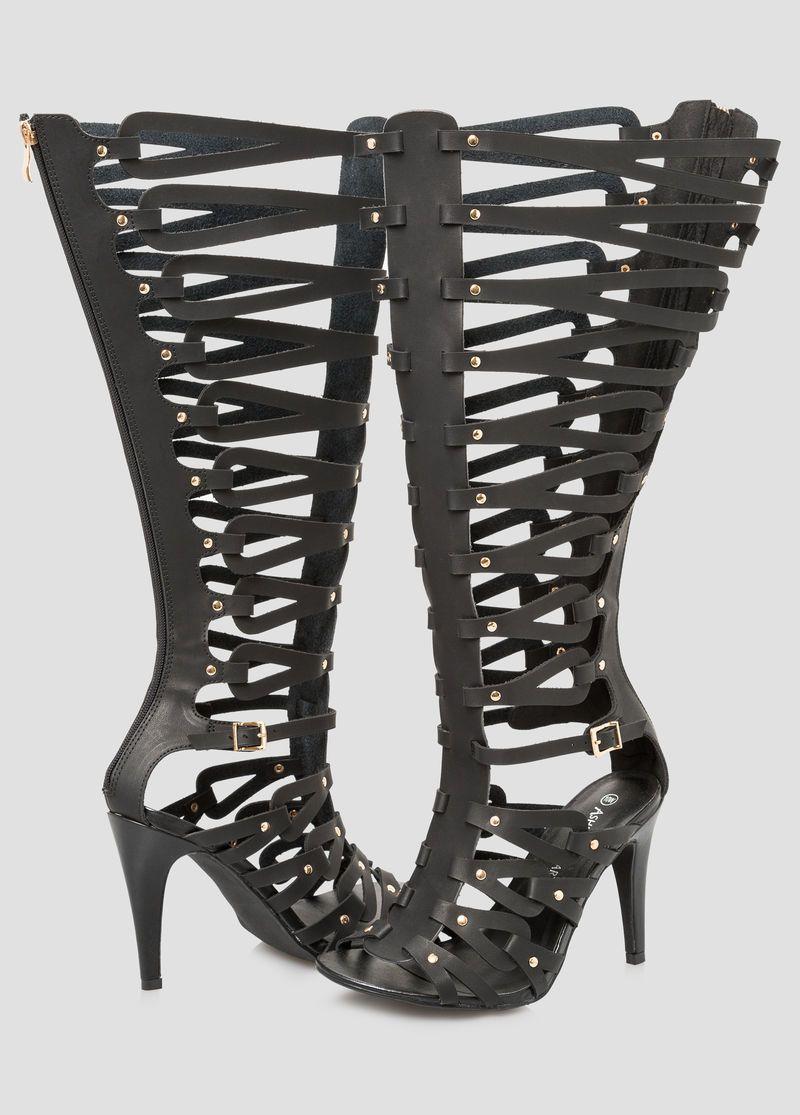 b91201676b2 Caged Tall Gladiator Sandal - Wide Calf