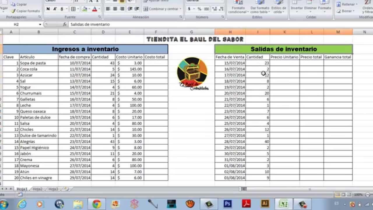 Como Hacer Un Inventario Fácil En Excel Computacion Ciclos De Vida Tecnología Educativa