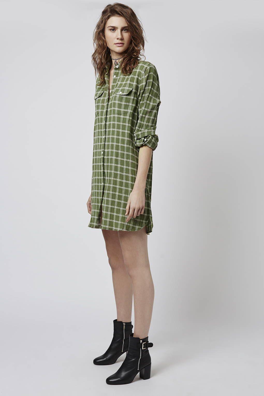 Photo 4 of Oversized Check Shirt Dress