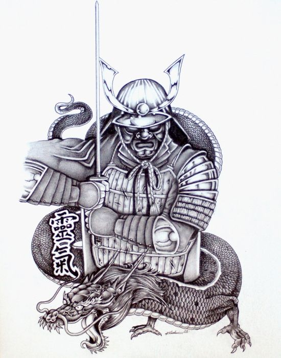 Samurai Tattoo Design 1 By Kyle Adamache Samurai Tattoo Japanese Tattoo Samurai Tattoo Design