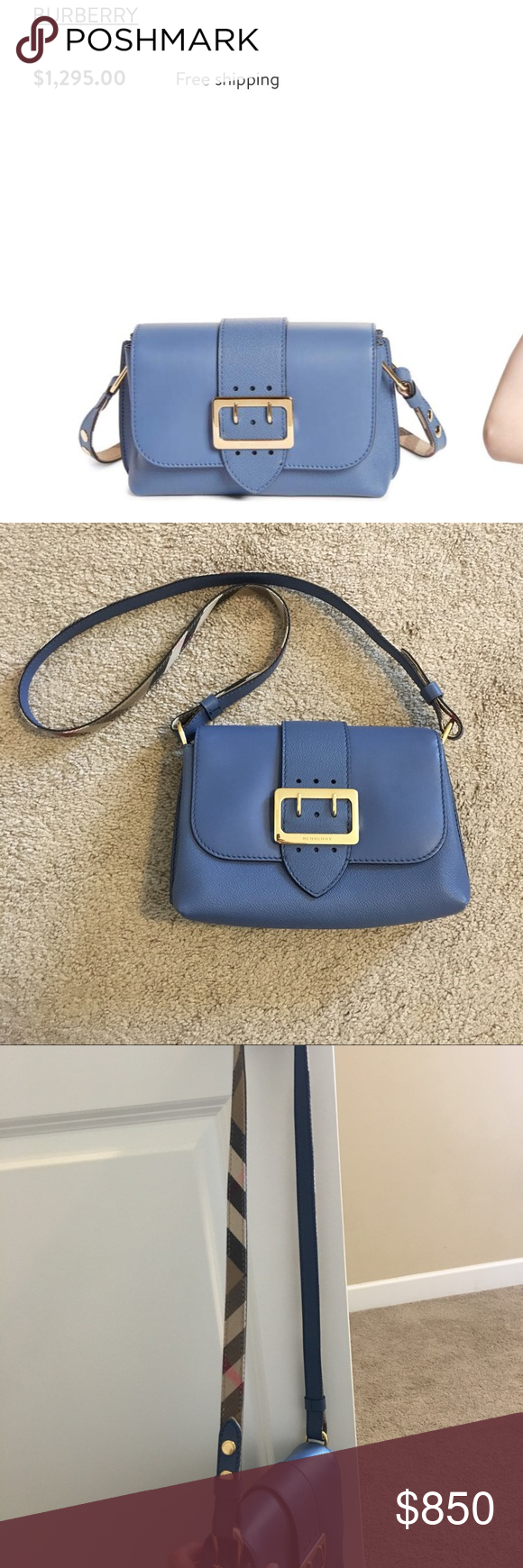 03f9734e5330 New Burberry small buckle leather crossbody bag 100% authentic and brand new!  Color is