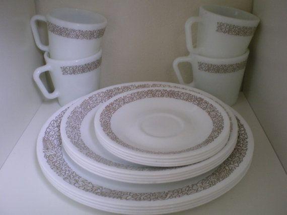 Vintage Woodland Brown Corelle Dinnerware by VINTAGEShopsDelight ...