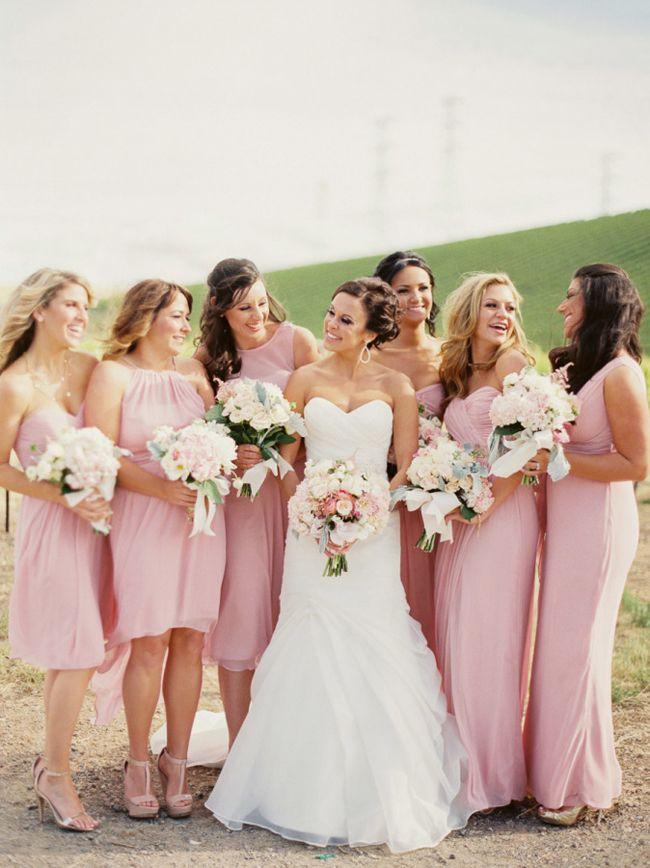 43959d6fea6 Pantone Rose Quartz Bridesmaid Dresses