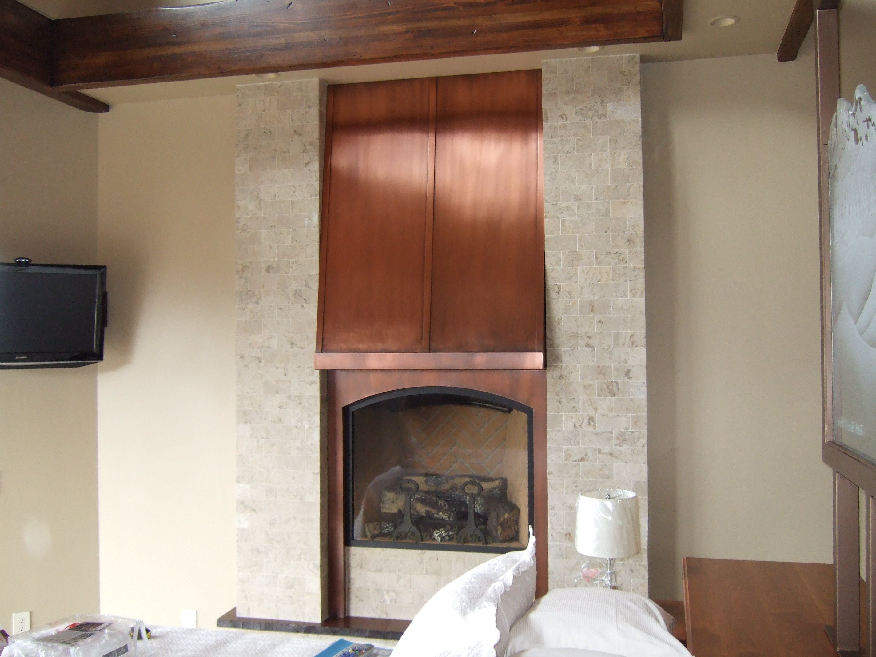 Copper Fireplace Shroud Home Fireplace House