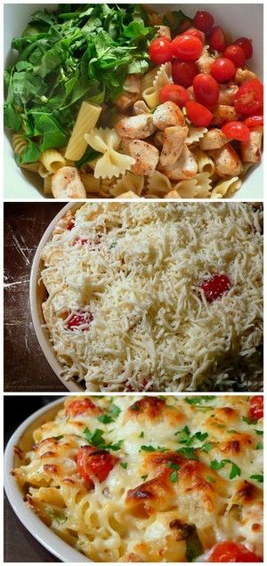 Chicken and Spinach Pasta Bake | Bake a Bite