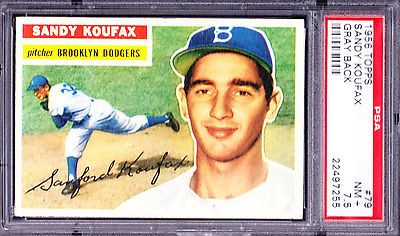 "1956 Topps SANDY KOUFAX #79 Baseball Card PSA GRADED 7.5 NMCOND ""LOOKS 8.5"" https://t.co/qNy214HptV https://t.co/AGKkLc8vZg"