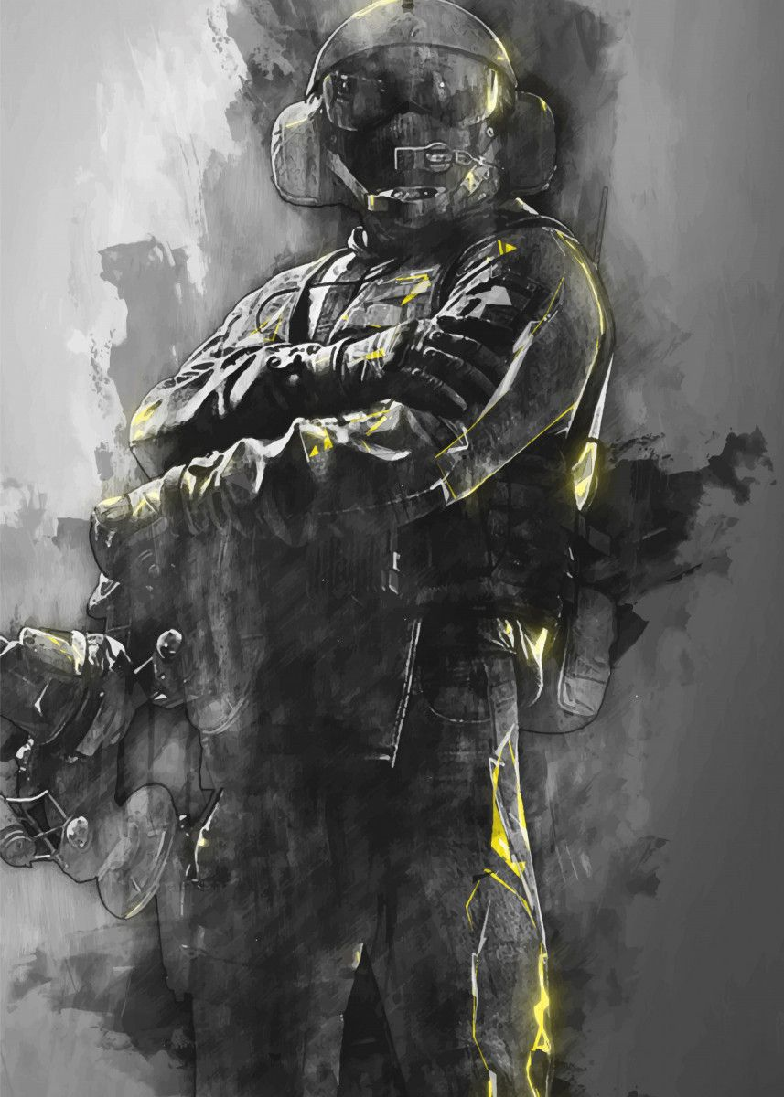 Jager Rainbow Six Military Poster Print Metal Posters With