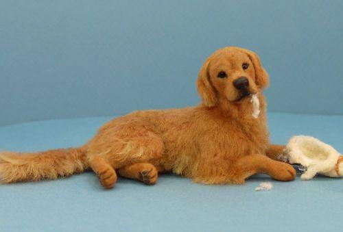 Lovely Golden Retriever Flocked Dog By Paizley Pawz On Ebay
