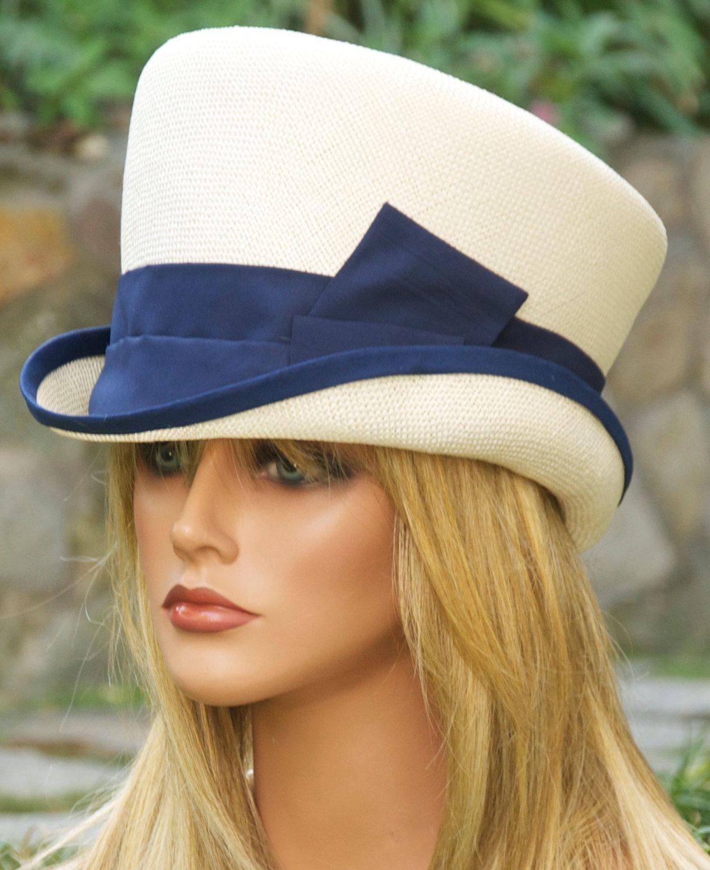 89a520b4036c8 Ivory Straw Victorian English Riding Hat